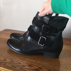 Paul green black leather boots women's size 7.5